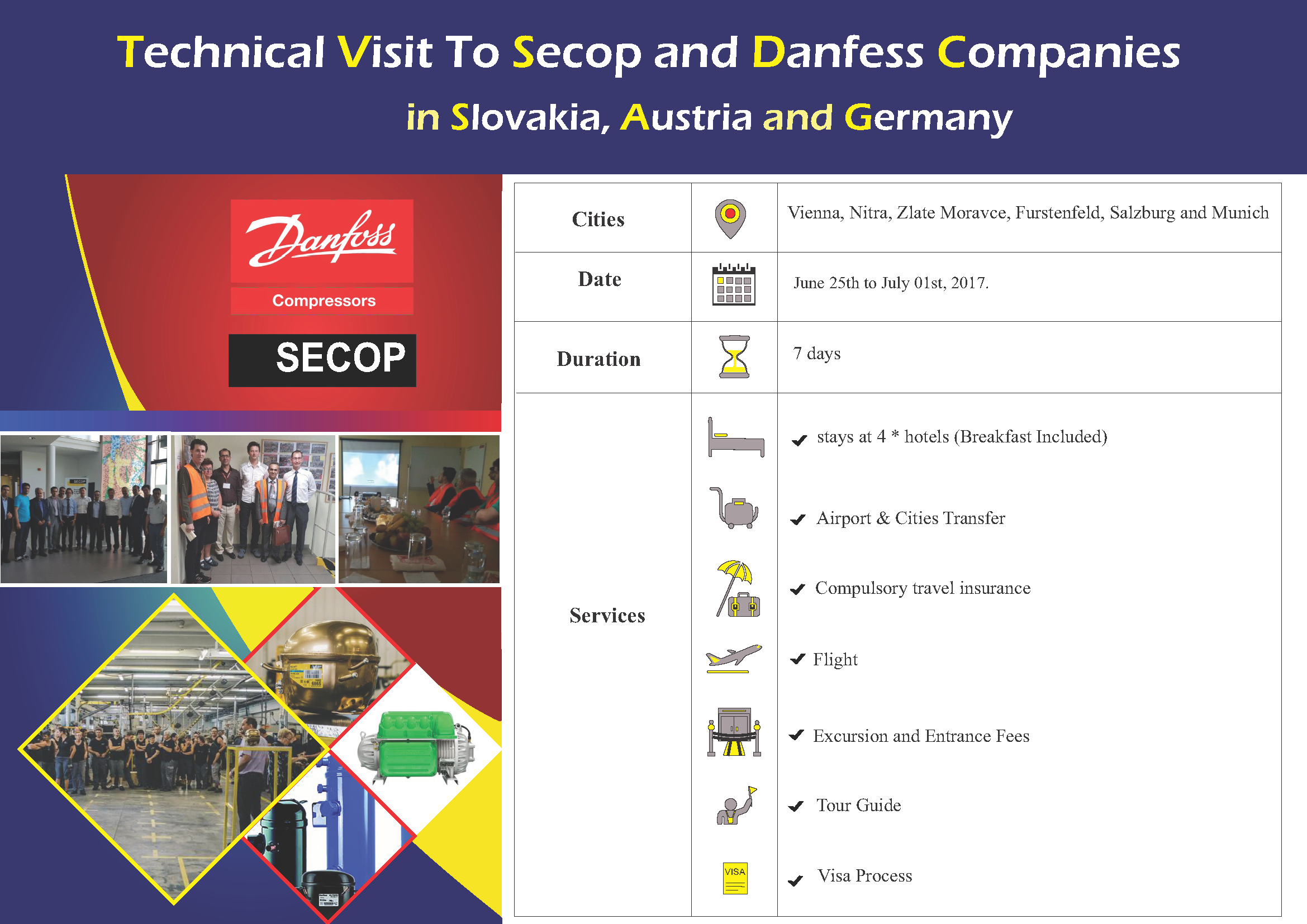 Technical Visit To Secop and Danfess Companies, Jun. 2017